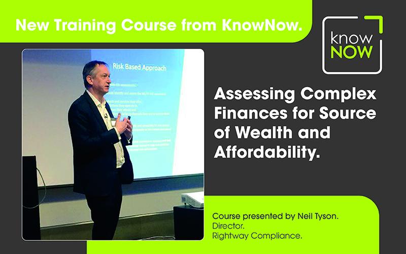Assessing complex customer finances training for gambling operators